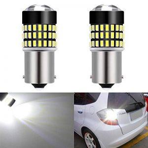 Katur Lot de 2ampoules LED 12V 4W 900lumens 1156BA15S 7506107310951141avec base super lumineuse 301478SMD de la marque KaTur image 0 produit