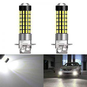KaTur Lot de 2ampoules LED de 900lumens H3 pour voiture ultra-lumineuses, lentille 3014 78SMD, feux diurnes, xénon blanc 6000K DC 12V-24V de la marque KaTur image 0 produit