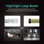 KaTur Lot de 2ampoules LED de 900lumens H3 pour voiture ultra-lumineuses, lentille 3014 78SMD, feux diurnes, xénon blanc 6000K DC 12V-24V de la marque KaTur image 4 produit