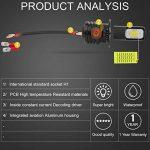 KaTur Super Bright DRL Top Advanced CSP LED Philips Chips de Voiture H1Circulation diurnes Ampoules LED ou Feux de Brouillard xénon–6500K 2400LM étanche IP6875W Blanc 3YR Garantie de la marque KaTur image 4 produit