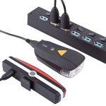 Kaxima Vélo Lampe Intelligent Avant lumière capteur de lumière Avant Voyant USB Charger feu arrière 3 Accessoires 75x35x45mm de la marque Kaxima image 3 produit