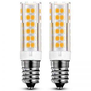 KDP E14-7W Ampoule LED, 550LM (Equivalent 60W Ampoules halogènes/Incandescente) Blanc Chaud 3000K, 360° angle de faisceau, 220-240V, Lot de 2 de la marque KDP image 0 produit