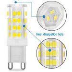 KDP Energy Saver Ampoule LED, Culot G9-5W/400LM (Equivalent 40W Ampoules halogènes/Incandescente) Blanc Froid 6000K, 360° angle de faisceau, 220-240V, Lot de 5 de la marque KINDEEP image 2 produit