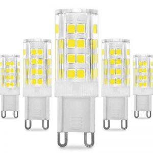 KDP Energy Saver Ampoule LED, Culot G9-5W/400LM (Equivalent 40W Ampoules halogènes/Incandescente) Blanc Froid 6000K, 360° angle de faisceau, 220-240V, Lot de 5 de la marque KINDEEP image 0 produit