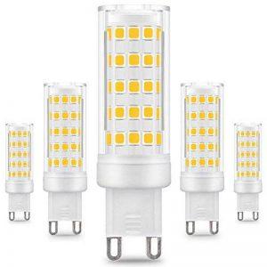 KDP Energy Saver Ampoule LED, Culot G9-8W / 650LM (Equivalent 75W Ampoules halogènes/Incandescente) Blanc chaud 3000k, 360° angle de faisceau, 220-240V, Lot de 5 de la marque KINDEEP image 0 produit