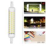 KINDEEP 2-Pack R7S Ampoule LED céramique 118mm 12W, 100W halogène équivalent d'ampoule, Lumière du jour Blanc 6000K, 220V-240V, 360 ° Angle de faisceau, 2-pack [Classe énergétique A +] de la marque KINDEEP image 4 produit