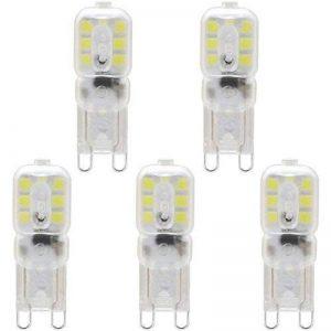 KINDEEP Ampoule LED, Culot G9-3W / 300LM (Equivalent 33W Ampoules halogènes/Incandescente) Blanc Froid 6000K, 220-240V, 360° angle de faisceau, Pack de 5 de la marque KINDEEP image 0 produit