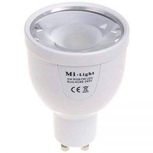 Kingled - Spot à LED Mi-Light WiFi GU10 5W 490lm RGBW - Ampoule Multicouleur et Cool White 6500K Gestion à distance MiLight FUT018 Cod. 1203 de la marque Mi-Light image 0 produit
