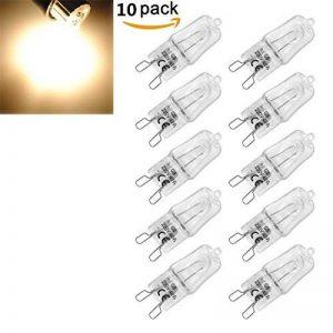 KINGSO 10 Pack Ampoule Filament G9 40W Globe Lampe Halogène 220-240V Blanc Chaud de la marque KINGSO image 0 produit