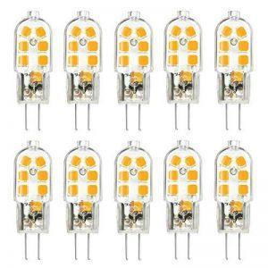 KINGSO 10 Pack Ampoule LED G4 3W Économie d'énergie Équivalent 25W Lampe Halogène/Incandescente Ampoules Maïs 360°Angle de faisceau AC/DC 12V 250LM Blanc Chaud 3000K de la marque KINGSO image 0 produit