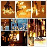 KINGSO 2 Pack E27 Edison Ampoule à Incandescence Vintage Globe Lampe Filament Rétro G80 60W 220V Blanc Chaud Idéal pour Décoration Luminaire Antique de la marque KINGSO image 2 produit