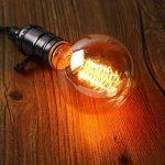 KINGSO 2 Pack E27 Edison Ampoules à Incandescence G80 40W 220V Globe Lampe Filament Vintage Blanc Chaud Idéale pour Nostalgie et Eclairage Antique de la marque KINGSO image 4 produit