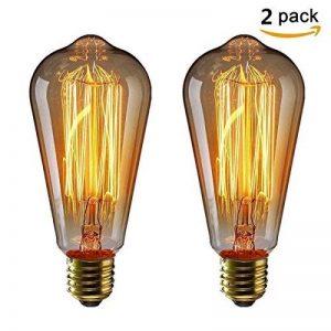 KINGSO 2pack E27 Ampoule Edison à Incandescence Vintage ST64 60W 220V Lampe Tungstène Décorative Ampoule Filament Classique Antique Dimmable Blanc Chaud de la marque KINGSO image 0 produit