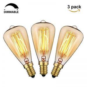 KINGSO 3 Pack E14 Amouple à Incanedescence Edison Rétro Lampe Filament ST48 40W 220V Décoration Eclairage Antique Vintage 2200K Blanc Chaud de la marque KINGSO image 0 produit
