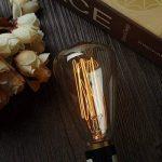 KINGSO 3 Pack E14 Amouple à Incanedescence Edison Rétro Lampe Filament ST48 40W 220V Décoration Eclairage Antique Vintage 2200K Blanc Chaud de la marque KINGSO image 1 produit