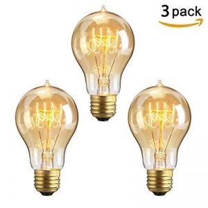 KINGSO 3 Pack E27 60W A19 Ampoules à Incandescence 220V Rétro Edison Ampoules Antique Lampe de la marque KINGSO image 0 produit