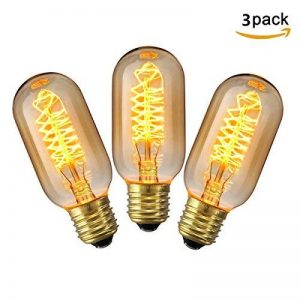 KINGSO 3 Pack E27 Edison Ampoule à Incandescence Vintage Lampe Filament Rétro T45 40W 220V Blanc Chaud Idéal pour Décoration Luminaire Antique de la marque KINGSO image 0 produit