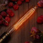 KINGSO 3 Pack E27 Edison Ampoules à Incandescence Vintage Lampe Filament Décorative T30 40W 220V Blanc Chaud Idéal pour Nostalgie et Eclairage Antique de la marque KINGSO image 1 produit
