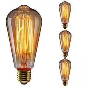 KINGSO 3Pack, ST6460W 220V 60W vintage antique edison carbone filamnet clair la Ampoule en verre Style de la marque KINGSO image 0 produit