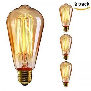 KINGSO 3pack E27 Edison Ampoule à Incandescence Vintage Lampe Filament Rétro ST64 40W 220V Blanc Chaud Idéal pour Décoration Luminaire Antique de la marque KINGSO image 0 produit