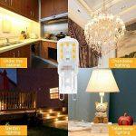 KINGSO 6 Pack Ampoule LED G9 5W Économie d'énergie Équivalent 40W Lampe Halogène/Incandescente Ampoules Maïs 360°Angle de faisceau AC220-240V 400LM Blanc Chaud 3000K de la marque KINGSO image 1 produit