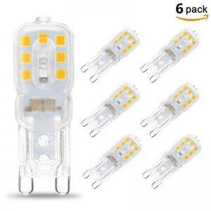KINGSO 6 Pack Ampoule LED G9 5W Économie d'énergie Équivalent 40W Lampe Halogène/Incandescente Ampoules Maïs 360°Angle de faisceau AC220-240V 400LM Blanc Chaud 3000K de la marque KINGSO image 0 produit