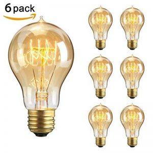 KINGSO 6 Pack E27 60W A19 Ampoules à Incandescence 220V Rétro Edison Ampoules Antique Lampe de la marque KINGSO image 0 produit