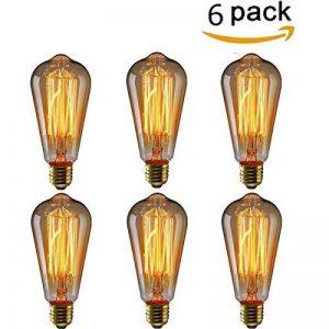KINGSO 6 Pack E27 60W ST64 Ampoules à incandescence 220V Rétro Edison Ampoule Antique Lampe de la marque KINGSO image 0 produit