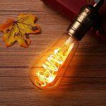 KINGSO 6 Pack E27 Ampoule LED Edison Vintage ST64 4W 2200K, Économie d'énergie Remplacement d'ampoule à Incandescence de 40W, Style Rétro Décoration Luminaire Antique Nostalgique Blanc Chaud de la marque KINGSO image 1 produit
