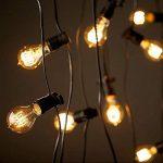 KINGSO 6 Pack E27 Edison Ampoules à Incandescence Vintage Lampe Filament A19 40W 220V Blanc Chaud Idéal pour Nostalgie et Eclairage Antique de la marque KINGSO image 1 produit
