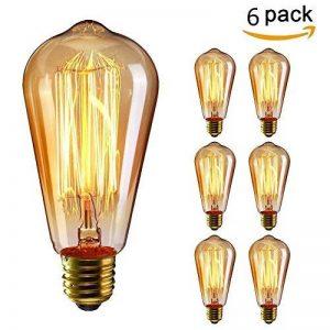 KINGSO 6pack E27 Edison Ampoule à Incandescence Vintage Lampe Filament Rétro ST64 40W 220V Blanc Chaud Idéal pour Décoration Luminaire Antique de la marque KINGSO image 0 produit