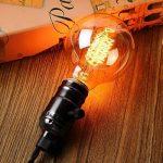 KINGSO ampoule vintage retro Edison ampoule globe (40W, E27, 220V) Lampe blanche filamenteuse chaud idéal pour nostalgie et anciens éclairage de la marque KINGSO image 1 produit
