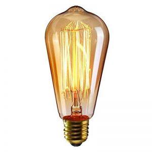 KINGSO E27 Ampoule Edison Filament Vintage Lampe Tungstène Décorative ST64 40W 220V Ampoule à Incandescence Classique Antique Blanc Chaud de la marque KINGSO image 0 produit