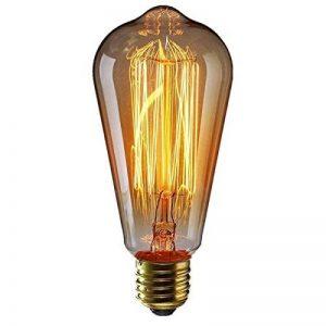 KINGSO E27 Ampoule Edison à Incandescence Vintage ST64 60W 220V Lampe Tungstène Décorative Ampoule Filament Classique Antique Dimmable Blanc Chaud de la marque KINGSO image 0 produit
