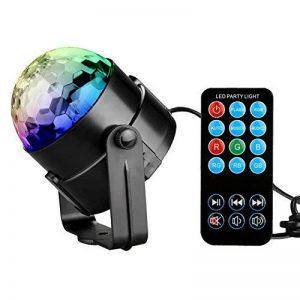 KINGSO Lampe de Scène avec Télécommande 3W 85-260V Lumière de Stade Lumière d'Atmosphère Ampoule Boule Cristal à Commande Sonore Eclairage Soirée Mini Projecteur Spot RGB LED pour KTV, Bar, DJ Disco de la marque KINGSO image 0 produit