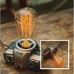 KINGSO Vintage ST64Ampoule avec cage Filament, 40W Dimmable Edison Ampoule rétro Style Incandescent Vis E27 10 PACK de la marque KINGSO image 3 produit
