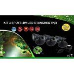 Kit 3 spots LED 4W étanches IP68 de la marque Electris image 1 produit