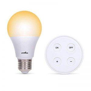 Kit Ampoule LED E27 Dimmable - Lampe Led Variateur 10W Blanc chaud/Blanc froid/Blanc naturel - Ampoules de Scène Ambiance avec Télécommande Sans Fil Autonomie 10 Ans, Couleur et Luminosité Réglable de la marque ATSHARK image 0 produit