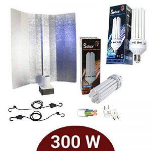 Kit de lumière basse consommation 300W CFL solux croissance + floración + réflecteur pearlpro de la marque Supacrop image 0 produit