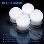 Kit de Lumière LED pour Vanity Miroir, HogarTech Lampe pour Miroir Dimmable 10 Ampoules LED Guirlandes Lumineuses pour Salle de Bain (Miroir Non Inclus) de la marque HogarTech image 1 produit