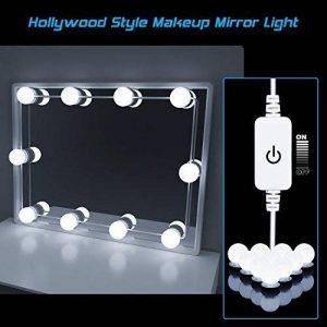 Kit de Lumière LED pour Vanity Miroir, HogarTech Lampe pour Miroir Dimmable 10 Ampoules LED Guirlandes Lumineuses pour Salle de Bain (Miroir Non Inclus) de la marque HogarTech image 0 produit