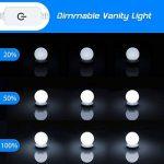 Kit de Lumière LED pour Vanity Miroir, HogarTech Lampe pour Miroir Dimmable 10 Ampoules LED Guirlandes Lumineuses pour Salle de Bain (Miroir Non Inclus) de la marque HogarTech image 2 produit