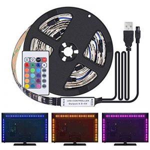 Kit de Ruban LED 2M - [4 Pack*0.5m]LED Bande USB 60 LEDs 5050 RGB LED Light Strip Flexible Multicolore Décoration Chambre TV Tableau Miroir avec Télécommande de 24 Touches+3 Connecteurs+Câble USB de la marque Boomile image 0 produit