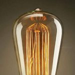 KJLARS 3 x E27 ST64 25W droite chute de fil de tungstène Ampoules Edison Art déco de source de lumière classique de la marque KJLARS image 3 produit