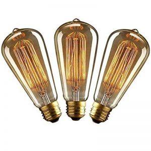 KJLARS 3 X E27 ST64 40W droite chute de fil de tungstène Ampoules Edison Art déco de source de lumière classique de la marque KJLARS image 0 produit