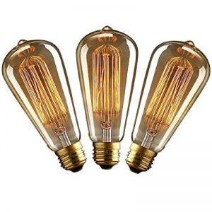 KJLARS 3 x E27 ST64 60W droite chute de fil de tungstène Ampoules Edison Art déco de source de lumière classique de la marque KJLARS image 0 produit