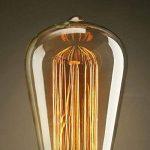 KJLARS 3 x E27 ST64 60W droite chute de fil de tungstène Ampoules Edison Art déco de source de lumière classique de la marque KJLARS image 3 produit