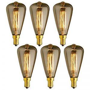KJLARS 6x E14 Vintage Ampoules à incandescence Rétro Edison Ampoules Antique Lampe ST48 25W de la marque KJLARS image 0 produit