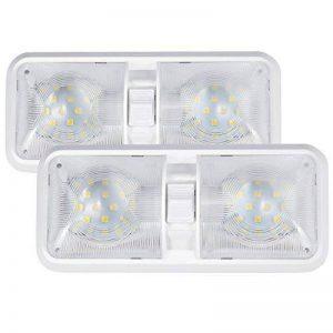 Kohree Lampe LED 12V Ampoule Plafonnier de Voiture Lumière Blanche Eclairage Intérieur Pour Véhicule Bateau 48X5050SMD avec Interrupteur ON/OFF Commutateur de la marque Kohree image 0 produit