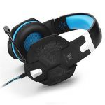 kotion chaque G1000Bandeau casque Gaming jeu Casque audio PC Stéréo 3,5mm Basse casque avec micro coloré respiration lampe LED pour ordinateur portable Black-Blue de la marque KOTION EACH image 1 produit